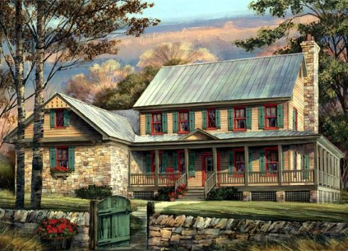 Midsize farm house floor plans for modern lifestyles for Traditional farmhouse plans