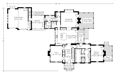 Country House Floor Plans... Farmhouse Inspired! on kitchen hearth rooms with fireplaces, house plans with double sided fireplaces, house plans with two way fireplace,