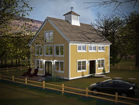 Small barn house plans soaring spaces for Cheap barn style homes