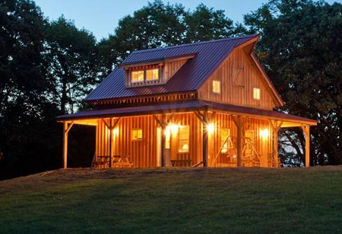 Small barn house plans soaring spaces for Small pole barn house plans