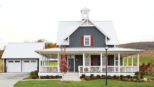 Small cottage house plans farm style features for Farmhouse style modular homes