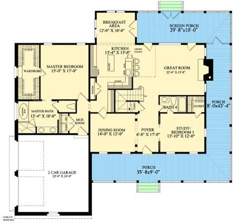Midsize Farm House Floor Plans for Modern Lifestyles! on